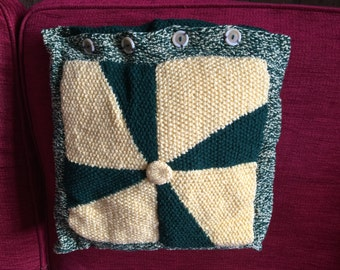 Hand knitted cushion cober
