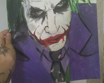 Joker heath ledger 2. Acrylic painting