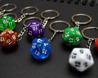D&D - Handmade D20 keychains