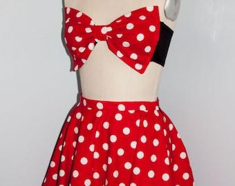 Minnie Mouse Bow Bandeau & Skirt Set Halloween Costume