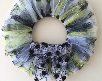 """Halloween """"Spider"""" Tulle Wreath"""