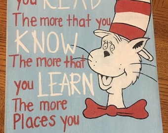 Cat in the Hat Quote Canvas