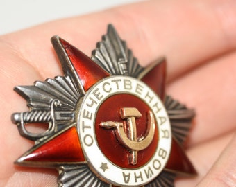 Order of the Patriotic War, 2 nd degree, battle, gold and silver !!!