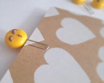 Kissy Face Emoji Paperclip