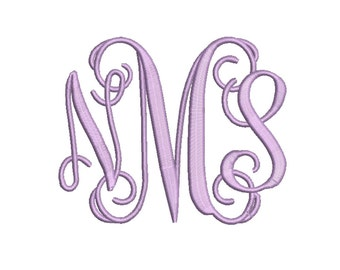 Vine Monogram 4 Size Font  Machine Embroidery Font Instant Download 8 Formats Embroidery Pattern