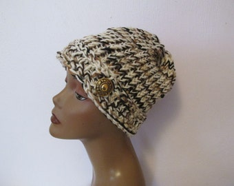Ladies Knit and Crochet Beanie