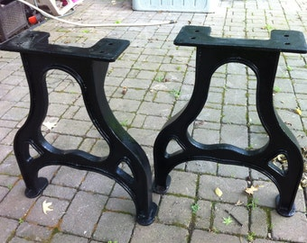 Iron table legs etsy for Cast iron table legs for sale