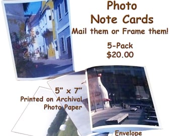 Photo Note Card 5-PACK