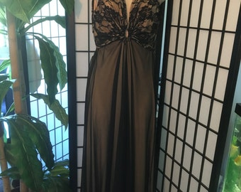sheer black lace nightgown