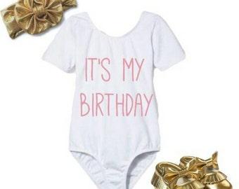 It's my birthday leotard,Birthday leotard , birthday shirt,princess birthday,personalized leotard,leotard ,bodysuit,birthday outfit