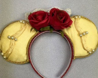 Belle Inspired Mickey/Minnie Ears