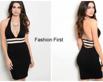 Black Halter Dress