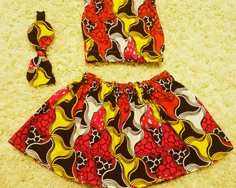 African Print Skirt and Tube Top