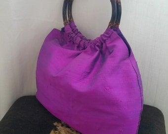 Thai silk handbag