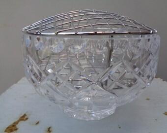Lead crystal rose vase