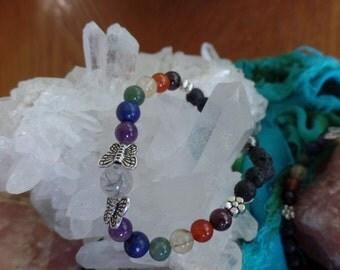 Chakra Bracelet with butterflies