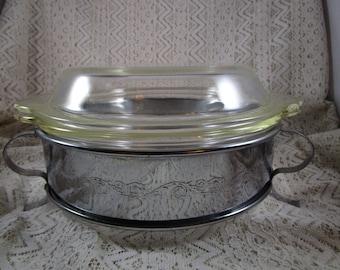 Fire King Lidded Baking Dish with Serving Tray, 1 1/2 Qt., FireKing Baking Dish