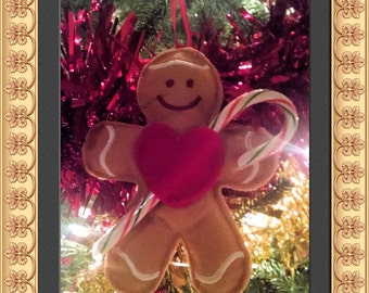 Ornament, Gingerbread Man, Candy Holder, Stocking Stuffer, Ornament, Christmas, Gift