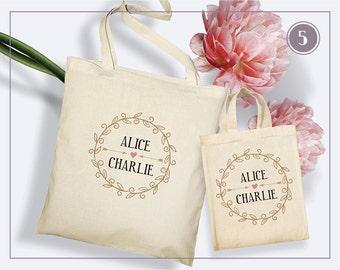 Tote Bag wedding - 5 templates to customize