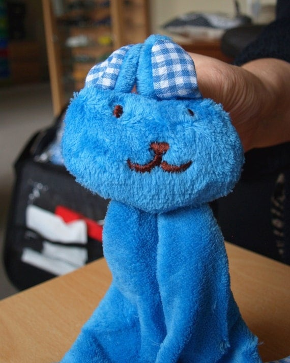 Personalised Children's/Kids Bathroom Bunny Towels - Blue  - unique quality special bespoke UK