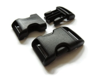 20mm Curved Side Release Buckles For Dog Collar Making UK Quality
