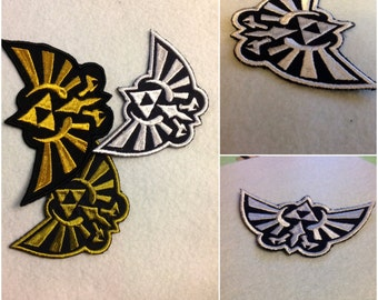 Legend of Zelda emblem sew on embroidered patches