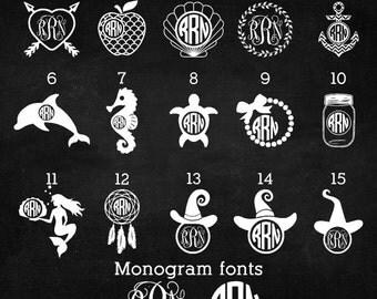MONOGRAM SALE!!  Limited time sale! Monogram decal sale