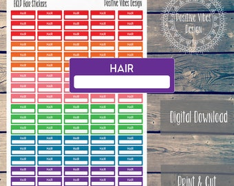 Printable Hair Appointment Stickers for Erin Condren Life Planner Digital Download