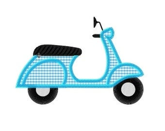 Embroidery design scooter
