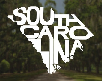 South Carolina Decal, South Carolina Sticker, Laptop Decal, Laptop Sticker, Macbook Decal