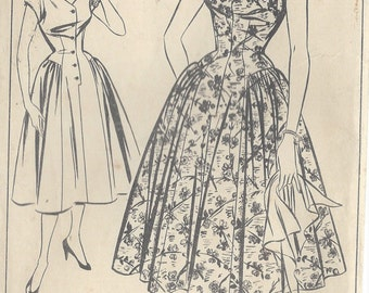 "1950s Vintage Sewing Pattern B38"" DRESS (184) Susan Stephen Style 676"
