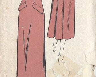 """1940s Vintage Sewing Pattern SKIRT W27"""" (R250) Weldons 5873"""