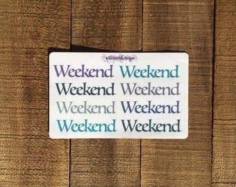 Glitter Weekend Planner Sticker 02