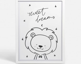 Nursery Animals Wall Art printable / Instant Download