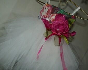 AMARA White Lace Tulle Flower Girl Dress Wedding Bridesmaid Dress