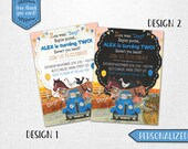 Little Blue Truck birthday invitation, Little Blue Truck invite, Little Blue Truck invitation, Little Blue Truck chalkboard invitation!