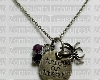 Trick or Treat Charm Necklace