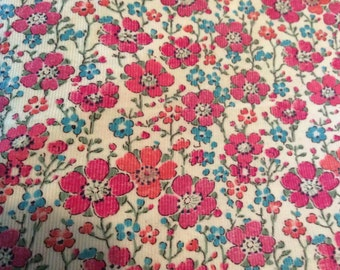 Babycord fabric from Liberty of London, Clarisse