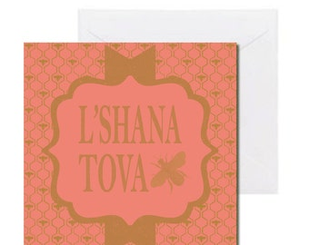 10 Pack Beautiful Vintage L'Shana Tova Cards for the Jewish New Year