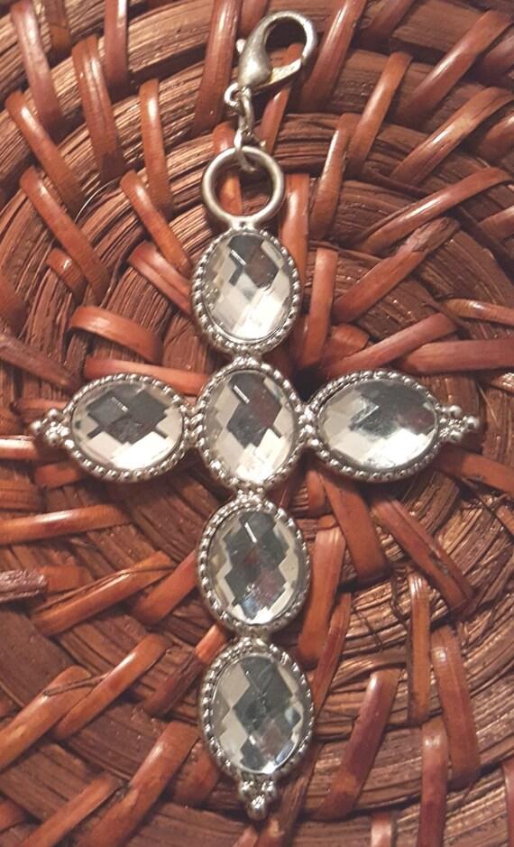 Metal Cross Pendant / Removable Pendant / Sparkly Pendant / Hanging Cross Pendant / Christian Pendant / Christian Jewelry/ PR6009