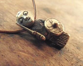 Valkyrie bronze pendant - statuette viking replica