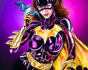 Batgirl Bodypaint 8.5x11 Print