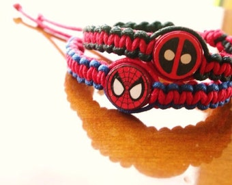 Deadpool and Spiderman Inspired Bracelets