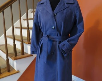 1960 Blue Ruby Martin Trench Coat