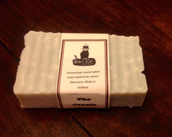 The Jungle Tea Tree Oil Soap- Handmade Soap- Book Soap, Vegan Soap, Shampoo Bar, Natural Soap, Cold Process Soap, Castille Soap