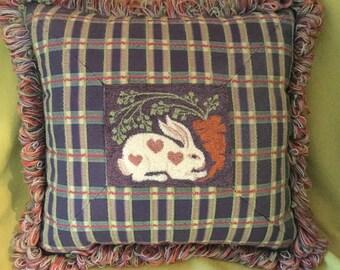 Rabbit with Carrot Pillow
