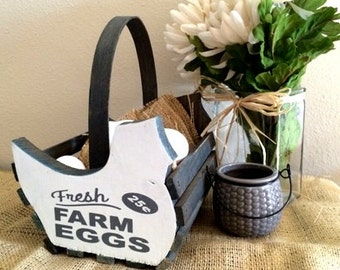Farm Fresh Eggs Basket