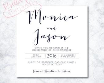 Monica Wedding Invitation Design