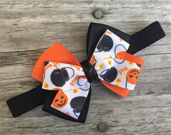 Halloween Headband /  Halloween Bow Headband  / Halloween Bow