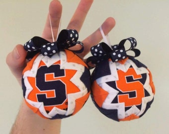 Syracuse University SU quilted ornament